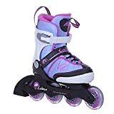 K2 Skates Girls Inline Skate Cadence Jr Girl - white - light blue - pink - S (EU: 29-34 / UK: 10-1 ...