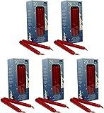 100 selbstlöschende Baumkerzen, 124 x 12 mm, Rot,...