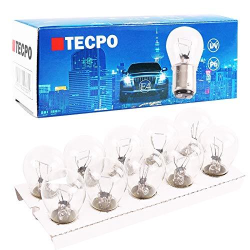 TecPo 10x Kugellampe BAY15S 12V 21/5W Bremslicht Standlicht hinten KFZ Autolampe...