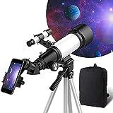 OYS telescope, telescope for adults, 70 mm aperture, 400 mm AZ bracket, telescope for children beginners