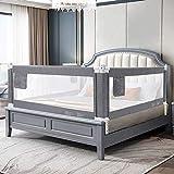 YIKANWEN sengeskinne, 180 cm sengebeskyttelse, barnesengeskinne ...