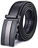 X XHtang Gürtel Herren Automatik Gürtel mit Automatikschließe-3,5cm Breite, Schwarz15, Länge 115cm Geeignet für 30-36 taille