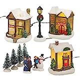 Weihnachts-Winter-Dorf mit LED-Licht (55744)