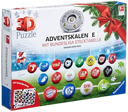 Ravensburger 3D Puzzle Bundesliga Adventskalender 2020 für...