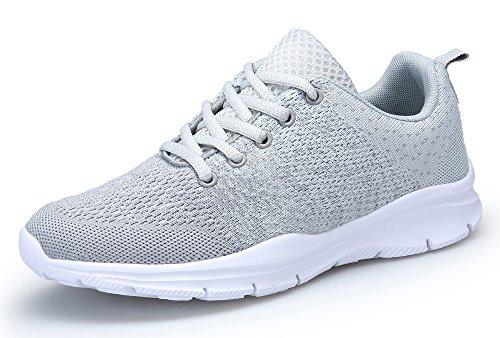 DAFENP Unisex Herren Damen Turnschuhe Laufschuhe Sport Fitness Running niedrige Sneakers Innen Casual für Draußen, Grau - grau - Größe: 36 EU
