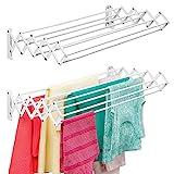 mDesign Wäscheständer aus Metall – ausziehbare...