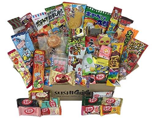 50 japanische Süßigkeiten, 40 Süßigkeiten und Snacks sowie 10 zusätzliche...