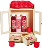 BRUBAKER Cosmetics bath and care set cranberry in a wooden cabinet
