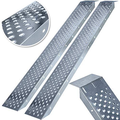 MASKO® 2X Auffahrrampe 400kg | Verladerampe | Verladeschiene | verzinkter Stahl...