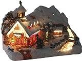 insatech mountain chapel illuminates the Christmas church with a color change using fiber optics