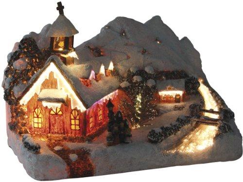 insatech Bergkapelle durch Fiberoptik beleuchtet Weihnachtskirche mit...