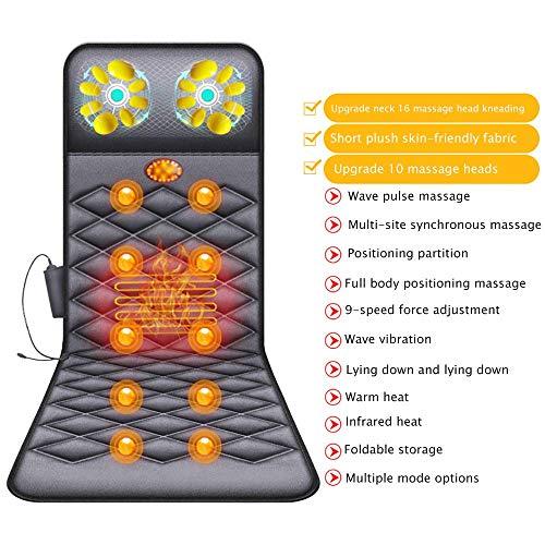 YLYHK Elektrische Voll Körpermassager-, Massage-Matte mit Wärme 10...