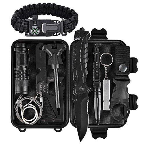Außen Notfall Survival Kit, Xuanlan Selbsthilfe Survival Kit Set Outdoor Multi-Tool