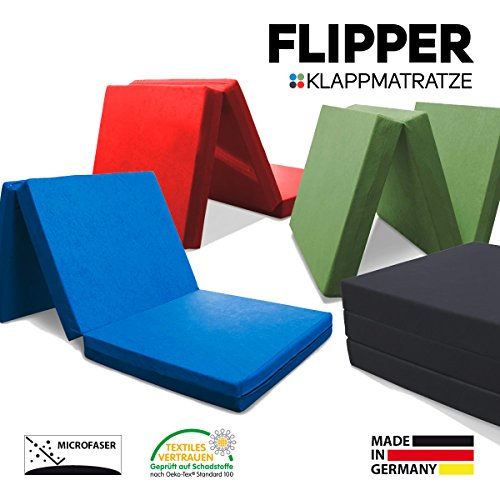 myBubo Klappmatratze Faltmatratze Klappbett Flipper Rot - Made IN Germany - als Matratze/Gästebett/Gästematratze einsetzbar