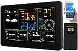 Fabrieksthermometer: WLAN-radioweerstation, buitensensor, 5-daagse weertrend, kleur, app (internetweerstation)