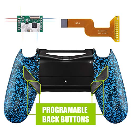eXtremeRate Dawn Programmierbares Remap Kit für PS4 Controller mit Rückseite Hülle Gehäuse Case&Mod-Chip&4 Rückseiten Tasten-für Playstation 4...