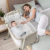 ADOVEL 2 i 1 barneseng, ekstra seng baby og frittstående ...