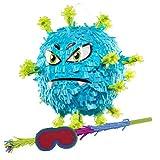 celebrationmeier® Pinata-Set: Virus, inkl. stafettestang og ...