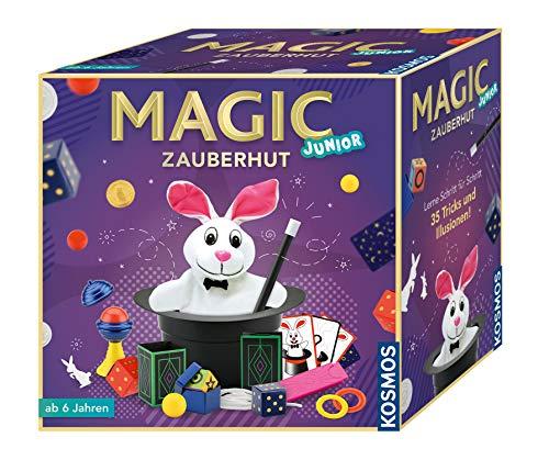 KOSMOS 680282 - Magic Zauberhut, Lerne einfach 35 Zaubertricks und Illusionen, Zauberkasten mit Zauberstab und vielen weiteren Utensilien, für Kinder...