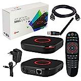 MAG 324 original Infomir & HB-DIGITAL IPTV Sæt TOP Box Multimedia Player Internet TV IP-modtager (HEVC H.256 Support) + HB Digital WLAN Stick med ...