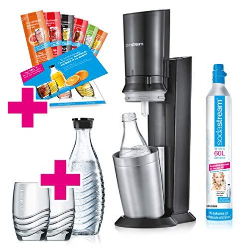 SodaStream Crystal 2.0 Wassersprudler-Set Promopack mit CO2-Zylinder, 2x...