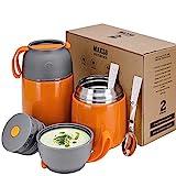 XIAPIA termiske beholdere 500 og 700 ml | Rustfritt stål...