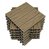 WOLTU 11 x Premium WPC terrastegels 30x30cm 3D hout ...