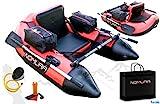 Nomura Belly Boat 170 x 120 x 70 cm inkl. Taschen Netze Pumpe Ruder Boot...
