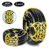 Qisiewell Universal Snow Chains 2020 Yellow Easy to assemble Tire Snow chain for every tire width ...