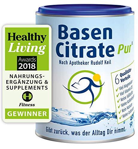 MADENA BasenCitrate Pur nach Apotheker Rudolf Keil   Basenpulver 216g Dose   Das Original mit 100% organischen Basen VEGAN   Viel Magnesiumcitrat,...