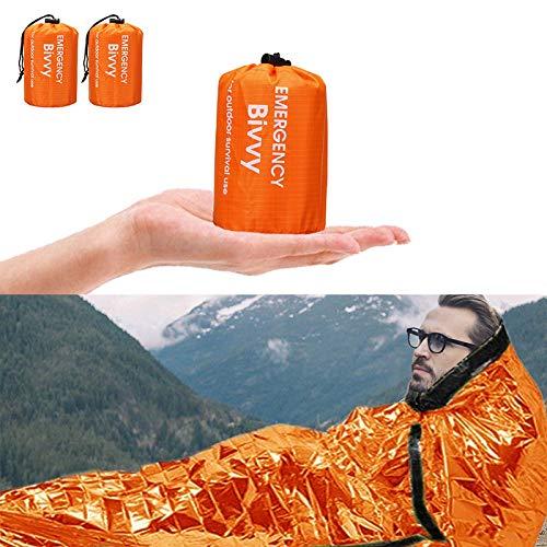 Charminer Notfallzelt,Biwaksack Survival Schlafsack warm Outdoor Tube Zelt...