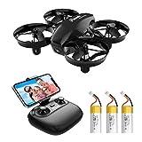 Potensic Mini Drone A20W med kamera 3 batterier RC Quadrocopter Drone 2.4 GHz FPV ...