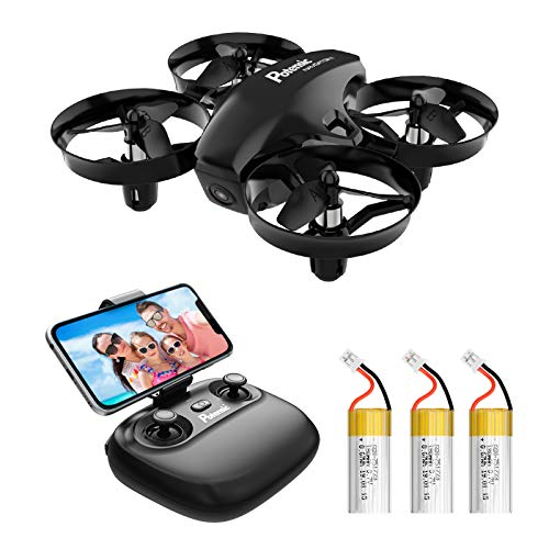 Potensic Mini Drohne A20W mit Kamera 3 Akkus RC Quadrocopter Drohne 2.4Ghz FPV...