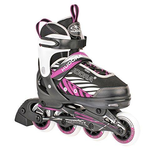 HUDORA Kinder Inliner Mia - Gr. 33 - 36, schwarz/pink - Inline-Skates - 28136