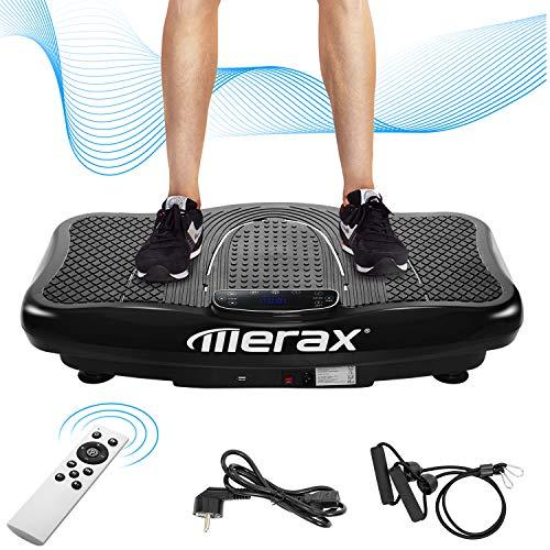 Merax Vibrationsplatte Profi mit 1 Kraftvoller motoren 2D Wipp Vibration/Bluetooth Musik inkl. Lautsprecher Extra große...