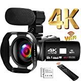Camcorder 4K 48MP Video Camera 18X WiFi YouTube Camera IR Night Vision Camcorder with Improved ...