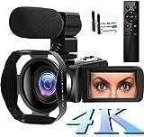 4K Video Camera WiFi Camcorder 48MP Vlogging Camera 30FPS Digital Camcorder Infrared Night Vision 3 Inch ...
