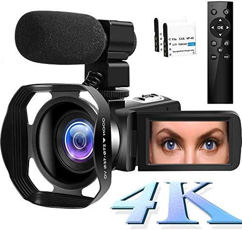 4K Videokamera WiFi Camcorder 48MP Vlogging Kamera 30FPS Digital Camcorder...