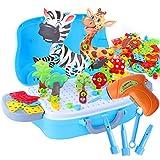 Herefun Mosaik Steckspiel, 329 pcs Kinder Buntes Steckspiel, 3D Spielzeug...