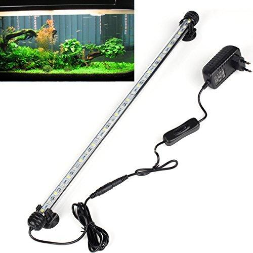 DOCEAN 5,8W 48cm Aquarium LED Beleuchtung Aquarium Licht Aquariumleuchte Wasserdicht Aquarium Lampe Unterwasserleuchte, Weiß Licht