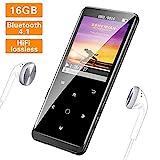 SuperEye MP3 Player 16GB Bluetooth 4.1 mit Kopfhörer,1.8 Zoll TFT Bildschirm...
