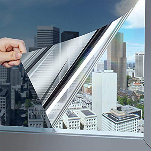 KINLO Sonnenschutzfolie Spiegelfolie Hitzeschutz Sichtschutzfolie Fensterfolie...