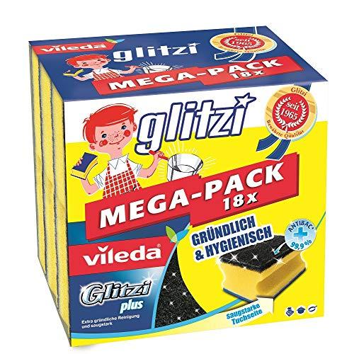 Vileda Glitzi Plus Topfreiniger, mit Antibac-Effekt gegen Bakterien, saugstark...