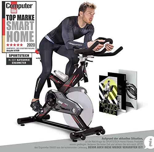 Sportstech Profi Indoor Cycle SX400– Deutsche Qualitätsmarke - mit Video...