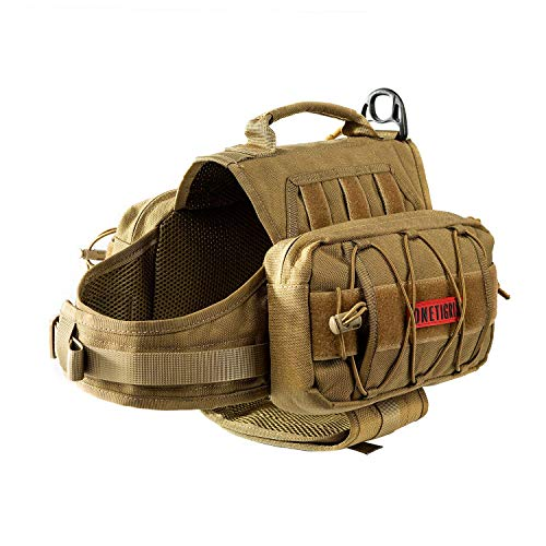 OneTigris Mammoth Hunderucksack Reißen Camping Wandern Hundebackpack für S/M/L...