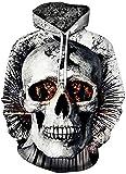 FRAUIT Herren 3D Druck Hoodie Sweatshirt Kapuzenpullover...