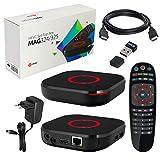 MAG 324 original Infomir & HB-DIGITAL IPTV Set TOP Box Multimedia Player Internet TV IP-modtager (HEVC H.256 Support) + HB Digital Nano WLAN Stick + ...
