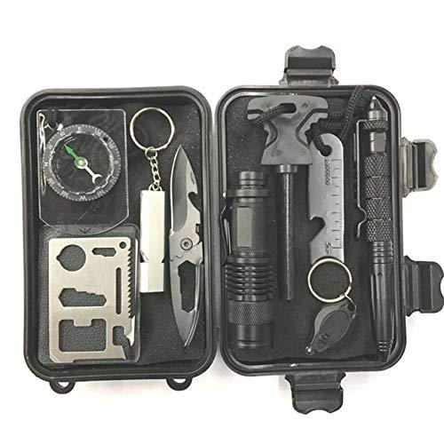 Ballylelly Notfall-Überlebens-Erste-Hilfe-Kit Outdoor-Sportgeräte Durable Survival Kit 10 Stück Multi-Tools
