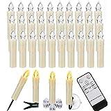 ZIYOUDOLI LED-kaarsen Kerstkaarsen met afstandsbediening ...