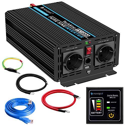 1000W KFZ Reiner Sinus Spannungswandler - Auto Wechselrichter 12v auf 230v...